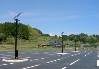 山都町役場駐車場(ソーラー照明灯)